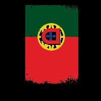Portugal Flagge Grunge