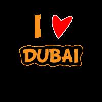 I Love Dubai. Ich liebe Dubai. Herz Bild Geschenk
