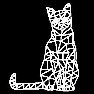 Kätzchen Katze geometrisch Geometrie Tiere