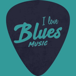 I Love Blues Music Guitar Pick