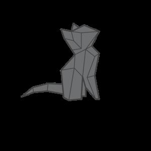 cat origami katze