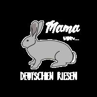 Mama von deutschen Riesen Kaninchen