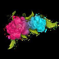 Blumenpfingstrosegrafik