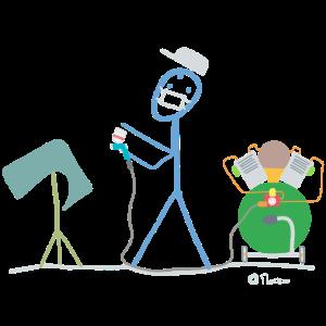 Lackierer Strichmännchen, Maler Beruf Arbeit Job