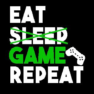 Essen Sie das Wiederholungs-T-Shirt