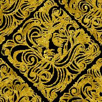 Gold Vintage Dame Gesicht