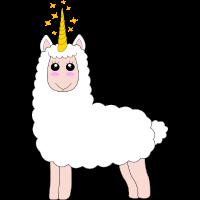 Lama EInhorn Llamacorn Llama Unicorn Geschenkidee