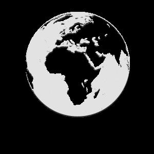 Globus Grau Grunge / Geschenk