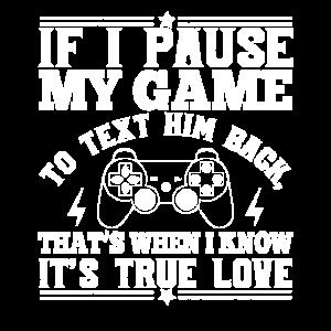 Gamer Zocker Spruch Spiel Pausieren