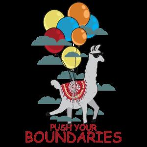 Lustiges Alpaka Lama Fliegen Ironisch Luftballon