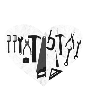 Handwerker Werkzeuge Werkzeug Handwerk Herz