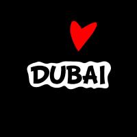 I Love Dubai. Ich liebe Dubai Herz Bild Geschenk