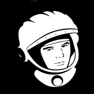 Astronaut Kopf Vintage kariert