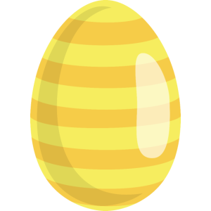 Osterei Gelb gestreift