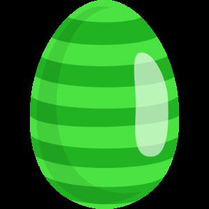Osterei Grün gestreift
