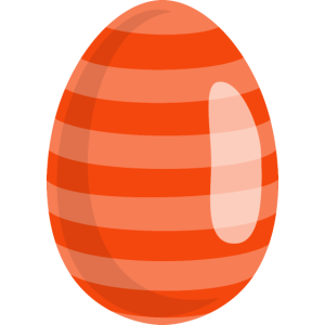 Osterei Orange gestreift