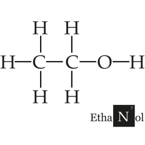 Alcohol Strukturformel Ethanol