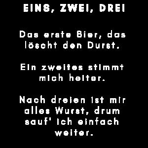 TRINKSPRUCH BIER TRINKEN Spruch Sprüche lustig