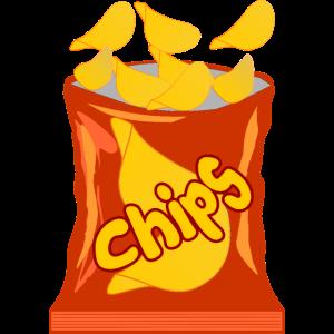 Chips Kartoffelchips Kartoffel Tüte Geschenk Tüte