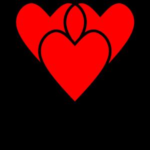 Drei rote Herzen