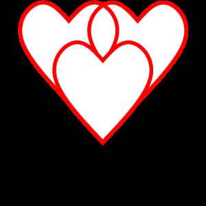 Drei Herzen vereint