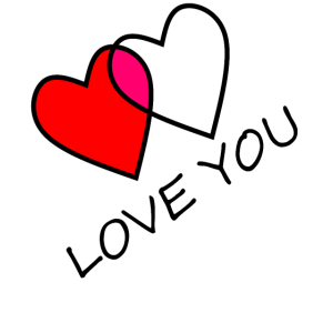 Love You zwei Herzen vereint