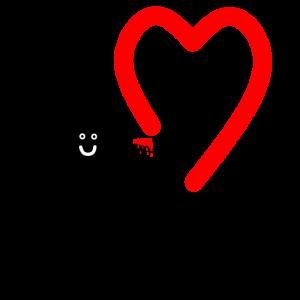 Herz zeichnendes Männchen