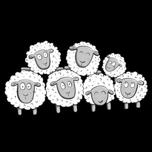 Wollschaf Familie I Schaf Comic Geschenk