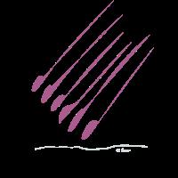 Strichmännchen design Muster Violett dünn dick