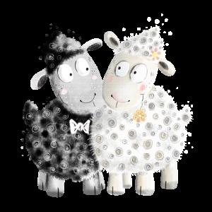 Lustiges Schaf Brautpaar I Hochzeit I Heiraten
