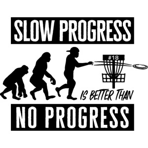 Disc golf - Slow progress - Black