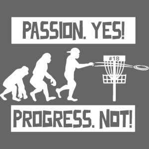 Disc golf - Passion, progress - White