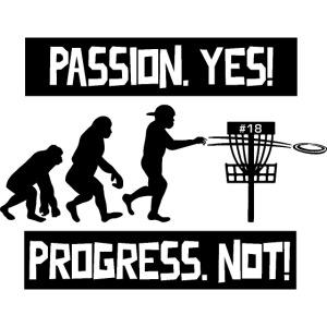 Disc golf - Passion, progress - Black