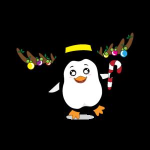 Nette Pinguin-Ren-Karikatur