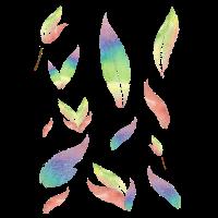 Federn in Regenbogenfarben vintage shabby Geschenk