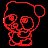 Gezeichneter Panda