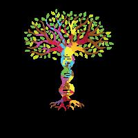 DNA Baum Bunt Gene Geschenk