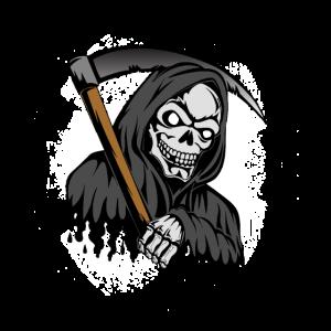 Sensemann mit Totenkopf