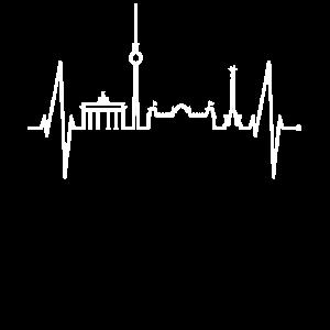 Berlin Herzschlag Skyline Puls Geschenk Souvenir