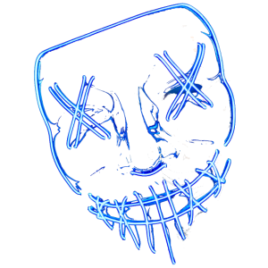 Blaue schock Maske