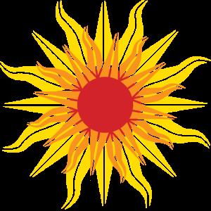 Eine strahlende Sonne