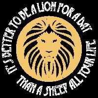 Löwenstark Löwe Typografie