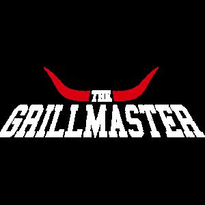 Grillen Grillmaster Hörner - Weiß Rot