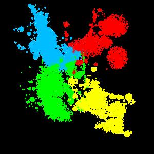 Farben Flecken