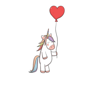 Valentinstag Einhorn Ballon Herz Jungen & Mädchen