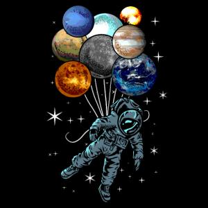 Astronaut Planets Balloons Space Kosmonaut Geschenk