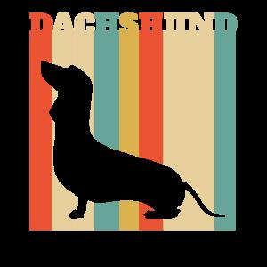 Retro Dachshund-Würstchen-Hund