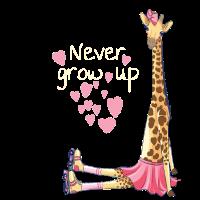 Wachsen Sie niemals Giraffe auf