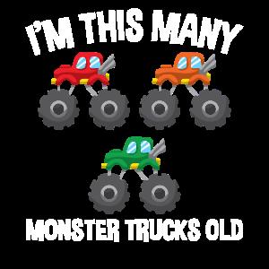 Ich bin so viele Monster Trucks 3 Geburtstag