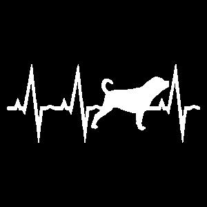 Rottweiler Heartbeat Weiss Geschenk